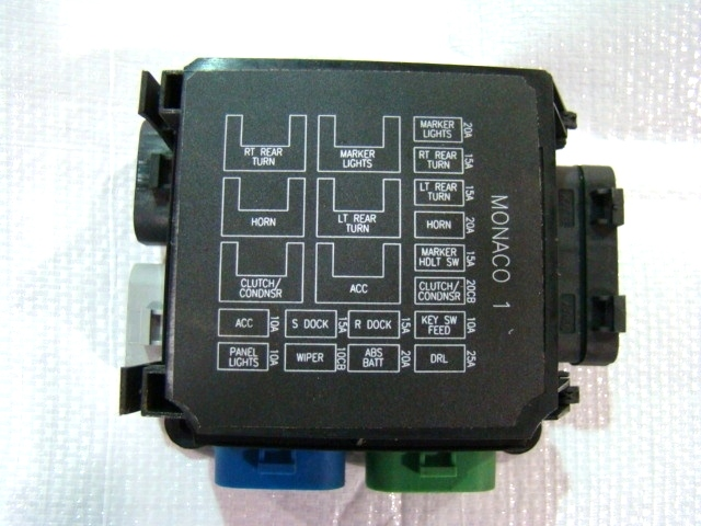 M120011.1 rv chassis parts monaco 1 fuse box assy 16615334 for rv or rv fuse box at crackthecode.co