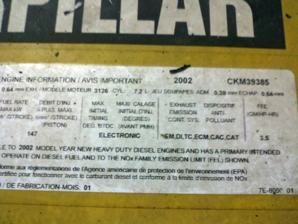 Used Caterpillar Engine | CAT 3126 Diesel Motor 330HP For Sale Many in Stock!