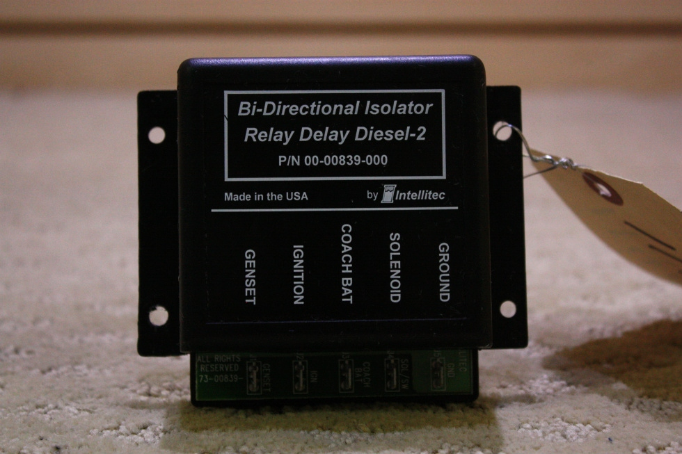 USED BI-DIRECTIONAL ISOLATOR RELAY DELAY DIESEL 2 00-00839-000 FOR SALE