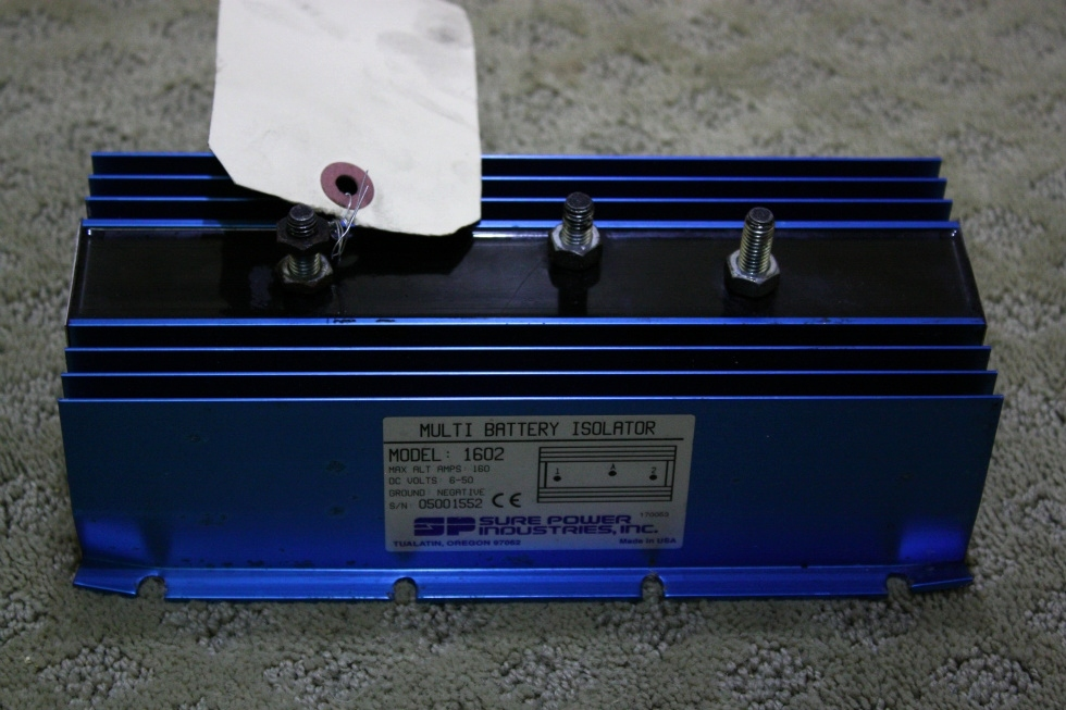 USED SURE POWER MULTI BATTERY ISOLATOR MODEL 1602 FOR SALE