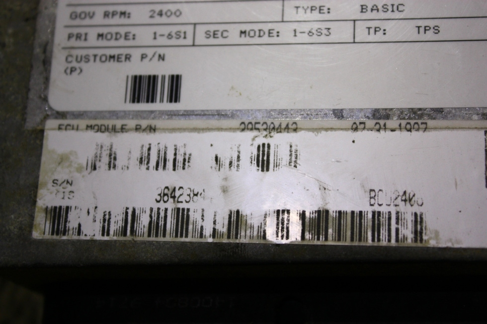 USED MOTORHOME ALLISON TRANSMISSION 29530443 ECU FOR SALE