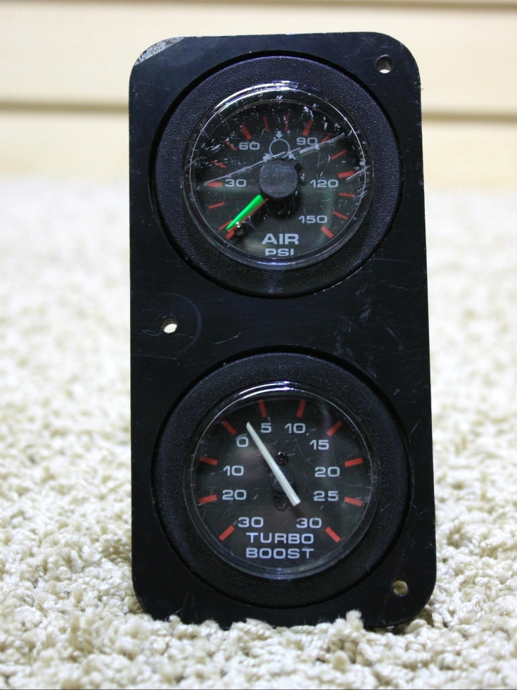 USED AIR PSI/TURBO BOOST GAUGE COMBO FOR SALE