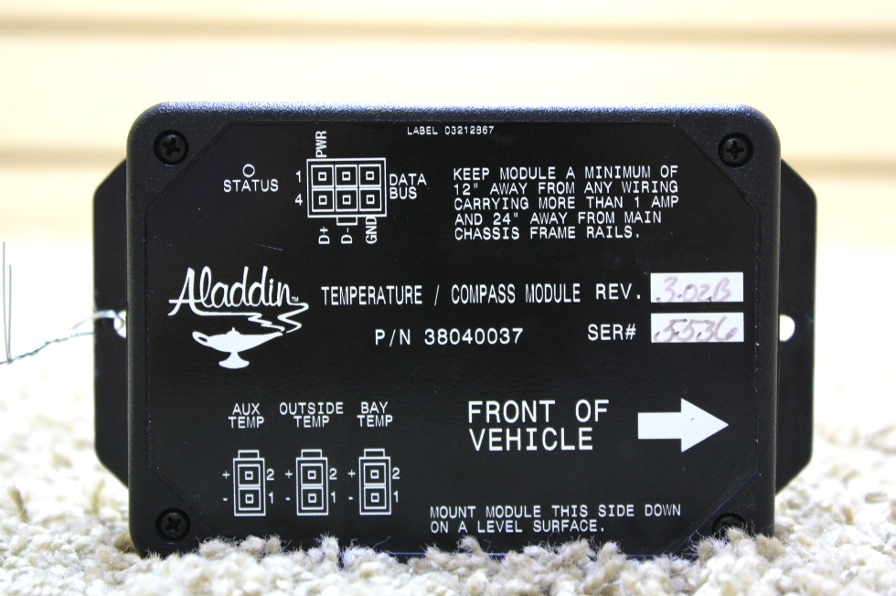 USED RV ALADDIN TEMPERATURE / COMPASS MODULE 38040037 FOR SALE