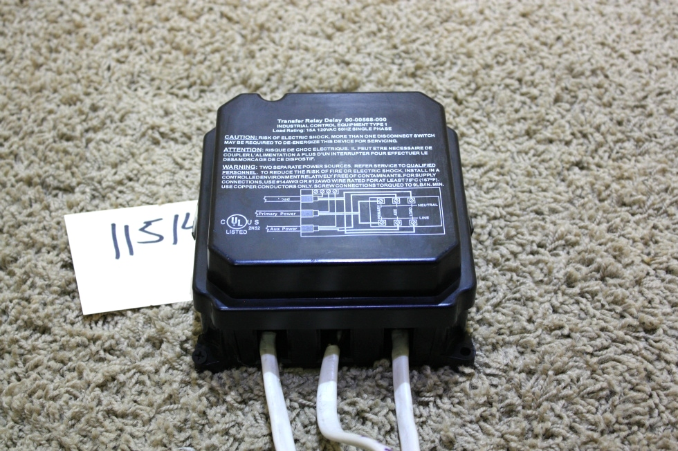 USED RV INTELLITEC TRANSFER RELAY DELAY 00-00568-000 MOTORHOME PARTS FOR SALE