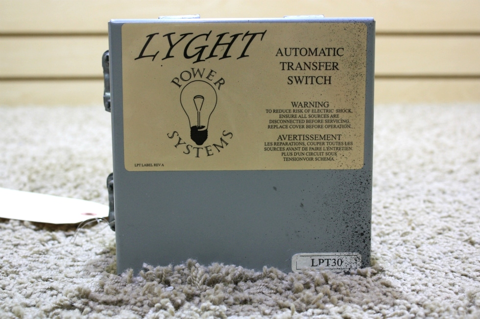 USED MOTORHOME LYGHT POWER SYSTEMS AUTOMATIC TRANSFER SWITCH LPT30 FOR SALE