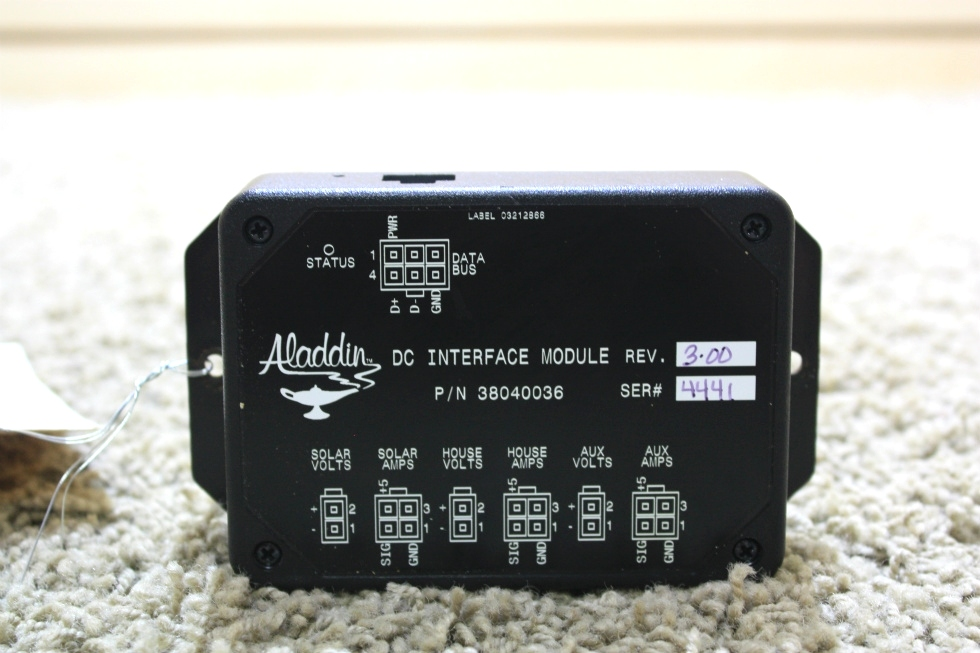 USED RV ALADDIN DC INTERFACE MODULE 38040036 MOTORHOME PARTS FOR SALE