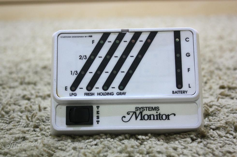 Rv Systems Monitor : Rv components kib tank monitor panel used motorhome