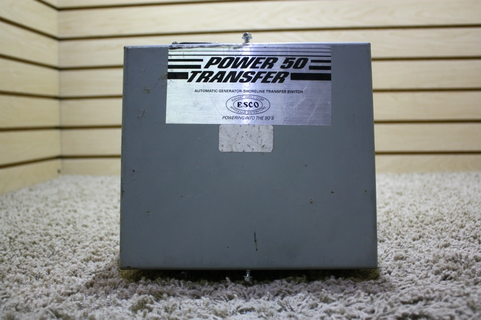 USED MOTORHOME POWER 50 TRANSFER AUTOMATIC GENERATOR - SHORELINE TRANSFER SWITCH ES50M-65N FOR SALE