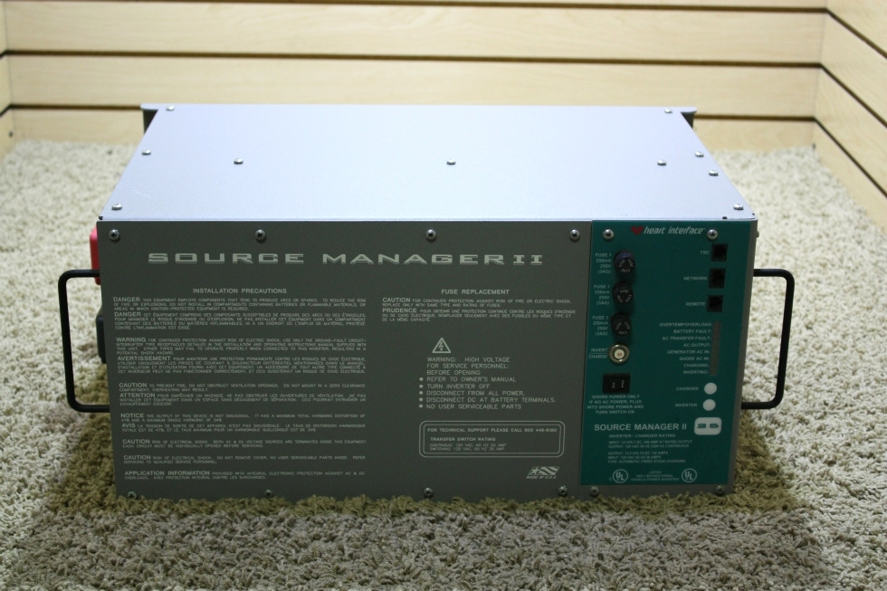 USED SOURCE MANAGER II HEART INTERFACE INVERTER CHARGER 81-0281-12(201) RV PARTS FOR SALE