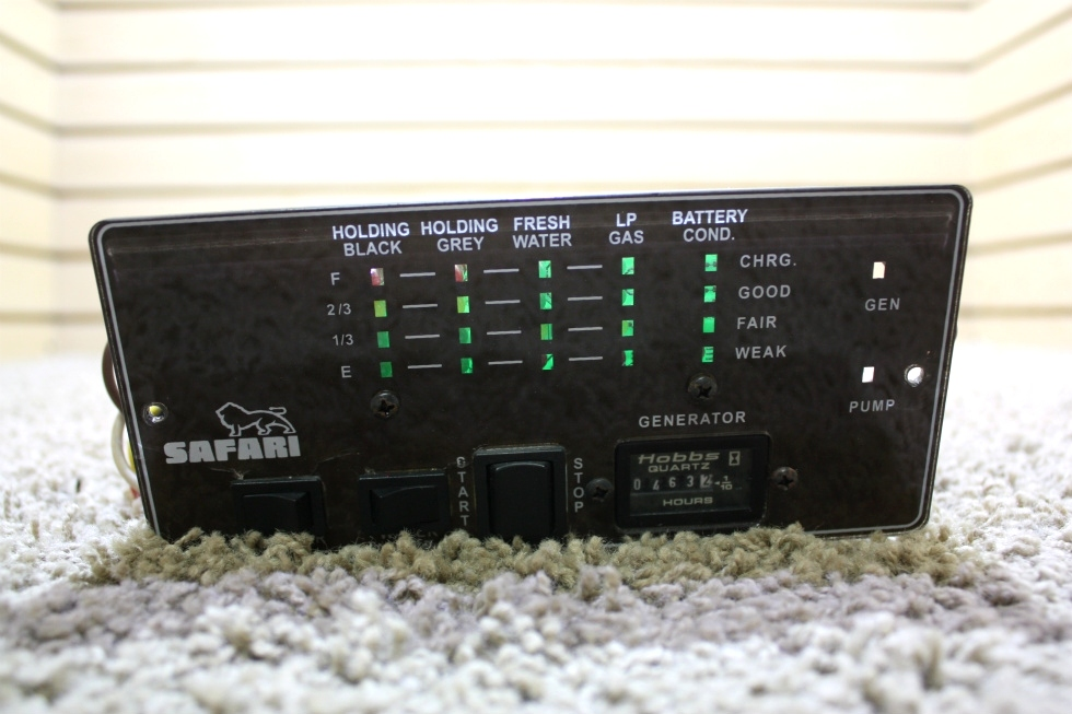 USED RV SAFARI TANK MONITOR PANEL A7880BN FOR SALE