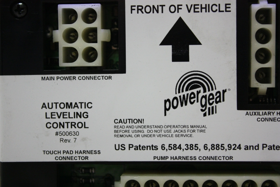USED POWER GEAR AUTOMATIC LEVELING CONTROL BOARD 500630 RV PARTS FOR SALE