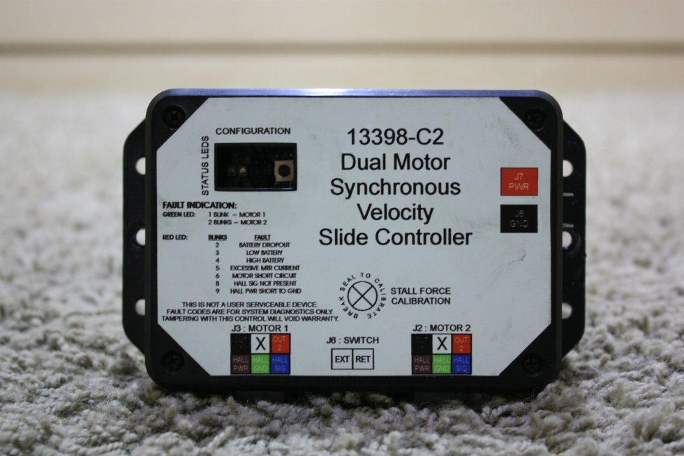USED 13398-C2 DUAL MOTOR SYNCHRONOUS VELOCITY SLIDE CONTROLLER MOTORHOME PARTS FOR SALE