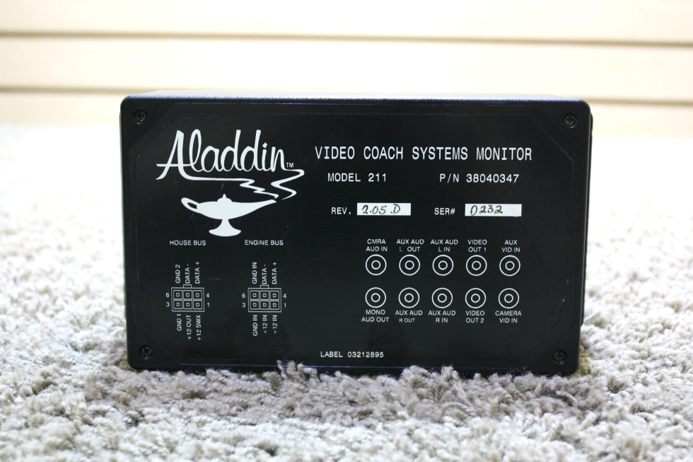 USED RV ALADDIN 3800347 VIDEO COACH SYSTEMS MONITOR FOR SALE
