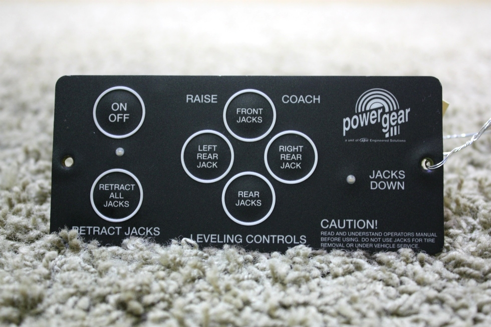 USED 500456 POWER GEAR LEVELING CONTROL TOUCH PAD RV PARTS FOR SALE