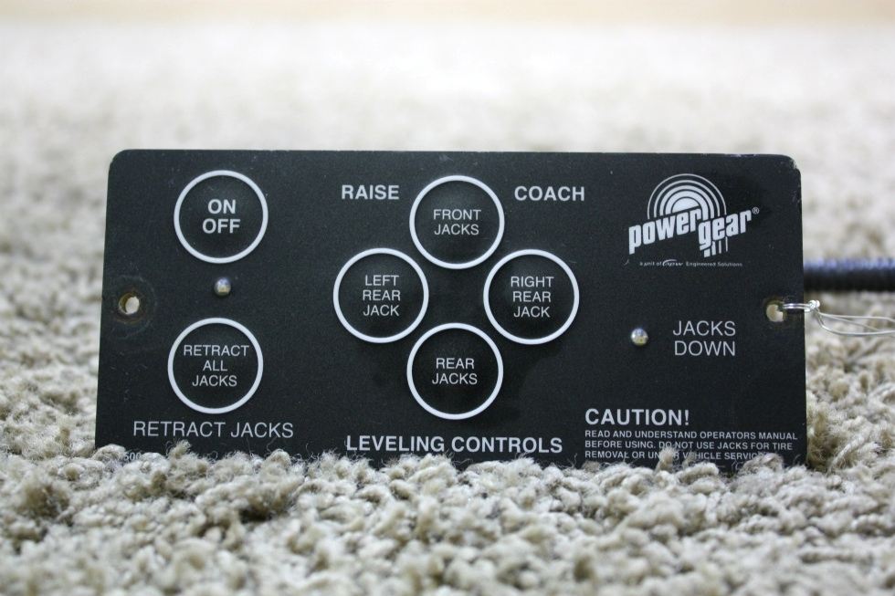 USED RV POWER GEAR 500456 LEVELING CONTROL TOUCH PAD FOR SALE