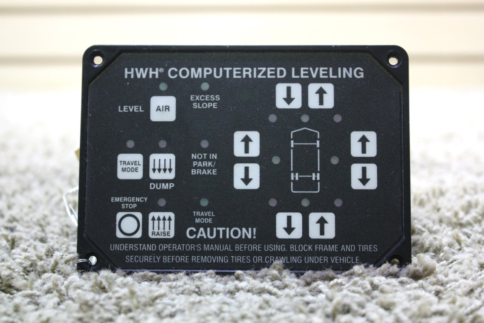 USED AP22703 HWH COMPUTERIZED LEVELING TOUCH PAD MOTORHOME PARTS FOR SALE