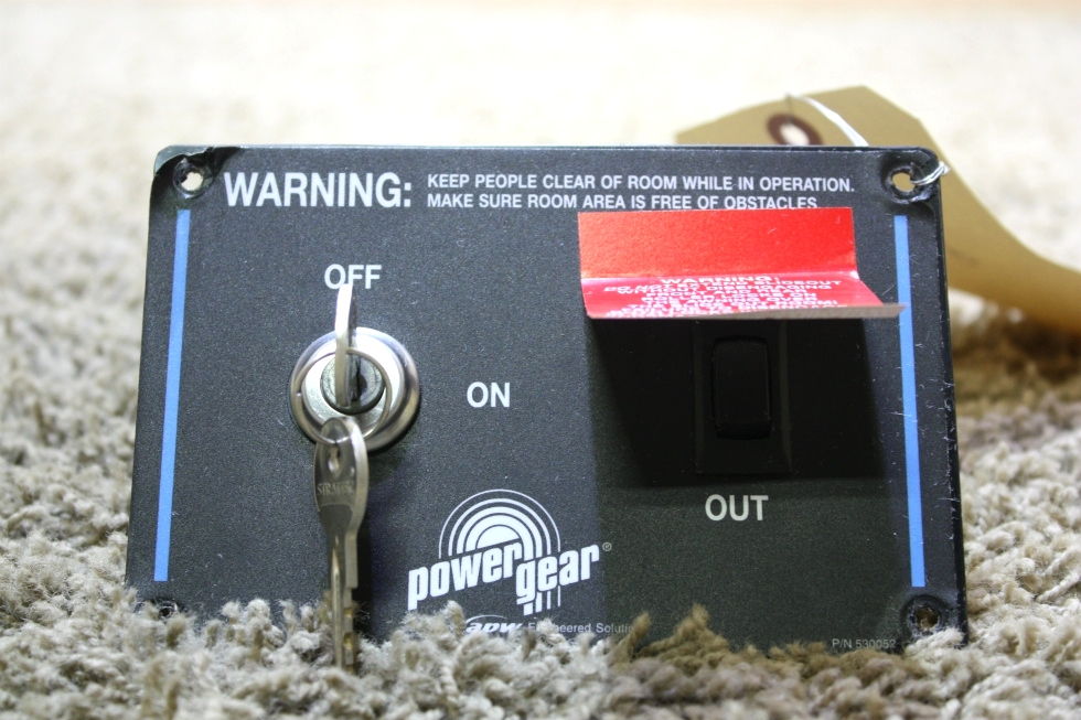 USED POWER GEAR SLIDE OUT CONTROL WITH KEY RV PARTS FOR SALE