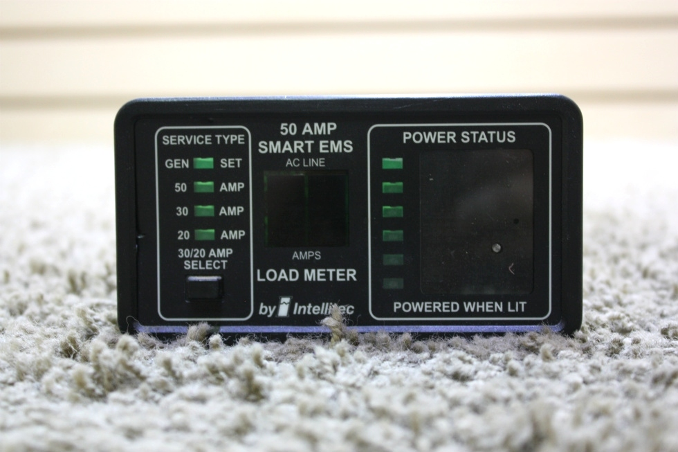 USED MOTORHOME INTELLITEC 50 AMP SMART EMS DISPLAY 00-00684-100 FOR SALE