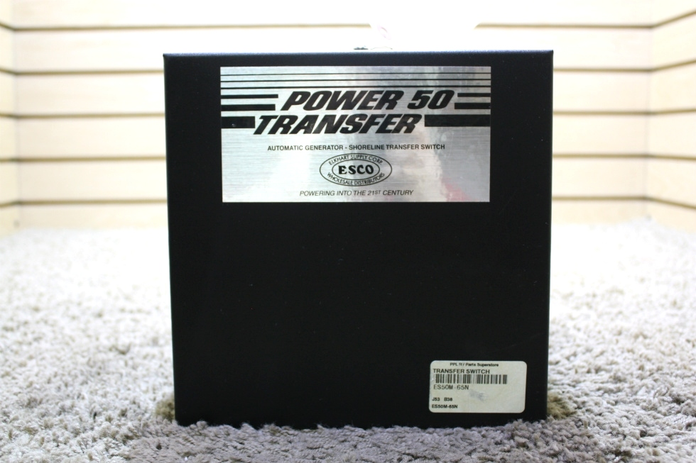 USED MOTORHOME POWER 50 TRANSFER AUTOMATIC GENRATOR - SHORELINE TRANSFER SWITCH ES50M-65N FOR SALE