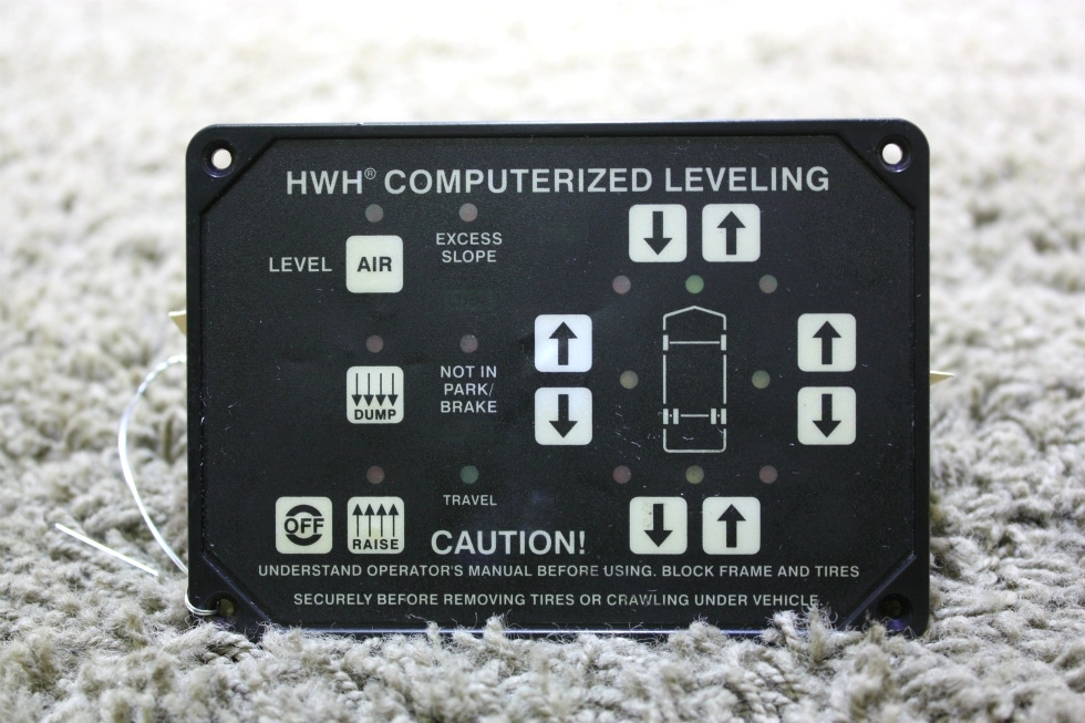 USED MOTORHOME HWH COMPUTERIZED LEVELING TOUCH PAD AP8444 FOR SALE
