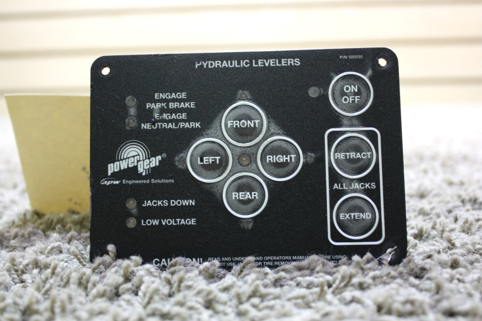 USED RV POWER GEAR HYDRAULIC LEVELERS TOUCH PAD 500535 FOR SALE