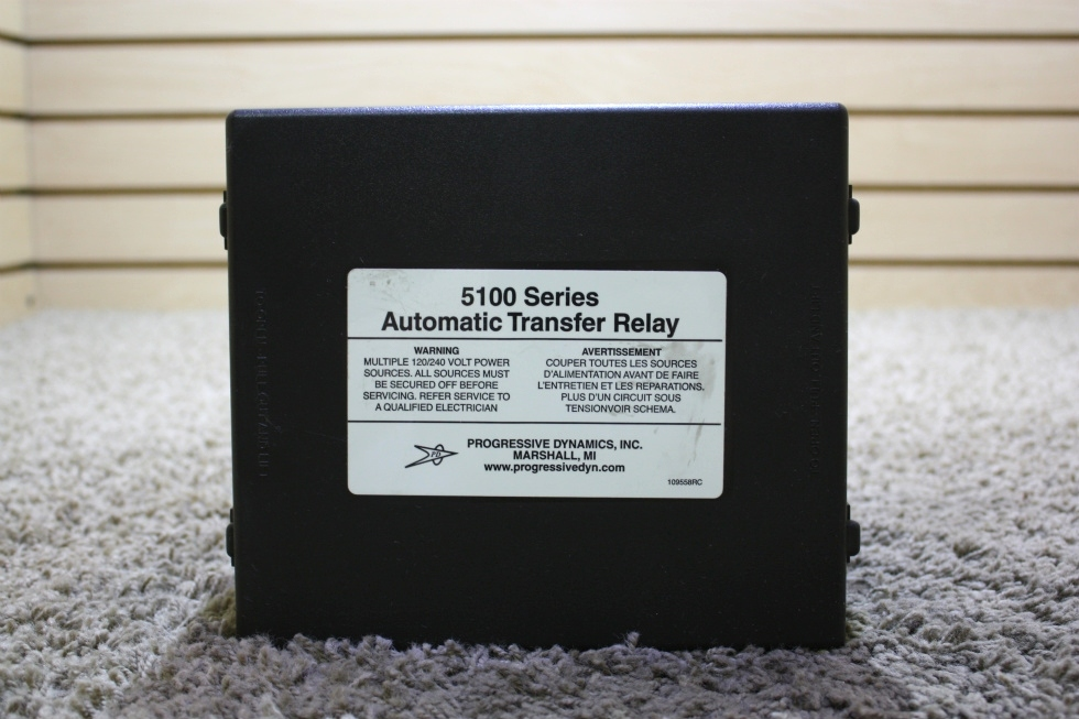 USED PROGRESSIVE DYNAMICS 5100 SERIES AUTOMATIC TRANSFER RELAY PD5120 FOR SALE
