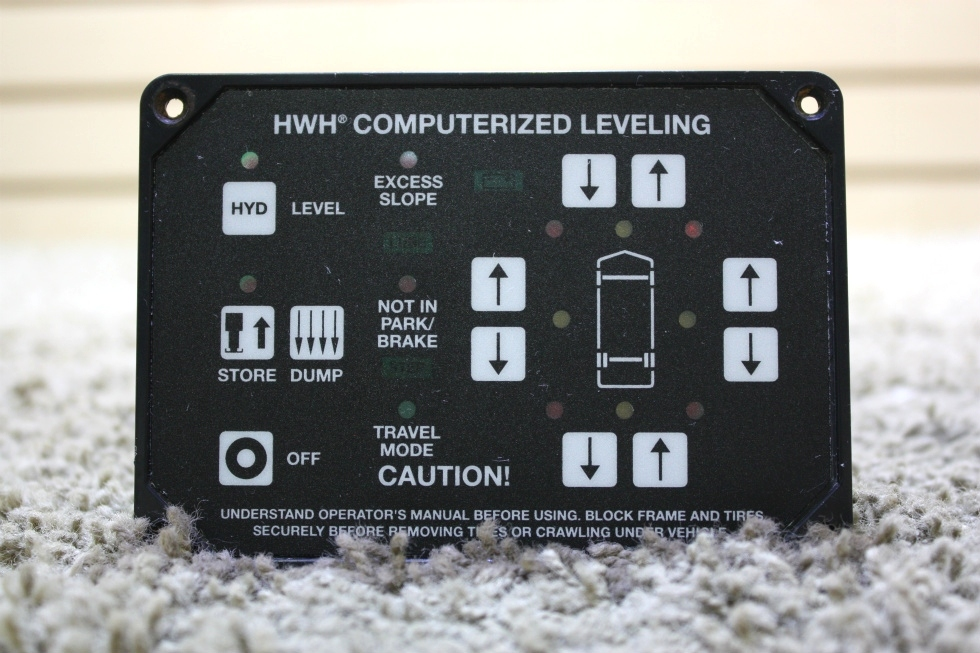 USED RV HWH COMPUTERIZED LEVELING TOUCH PAD AP23304R4 FOR SALE