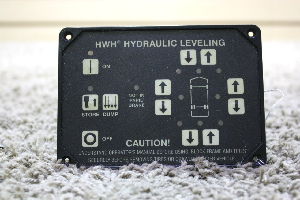 USED RV HWH HYDRAULIC LEVELING TOUCH PAD AP10054 FOR SALE