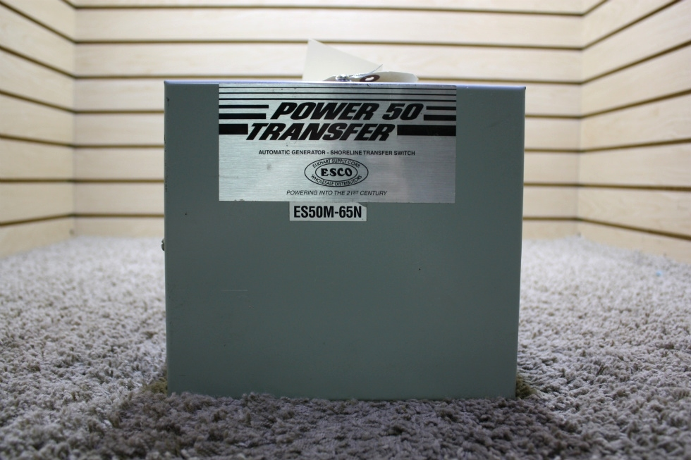 USED POWER 50 TRANSFER AUTOMATIC GENERATOR - SHORELINE TRANSFER SWITCH ES50M-65N RV PARTS FOR SALE