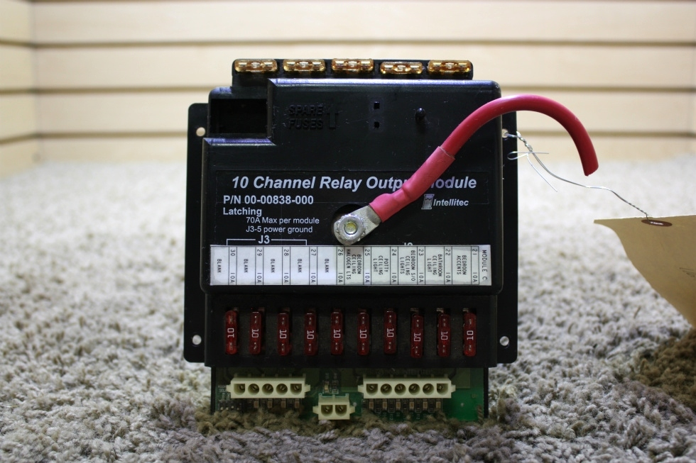 USED MOTORHOME INTELLITEC 10 CHANNEL RELAY OUTPUT MODULE 00-00838-000 FOR SALE