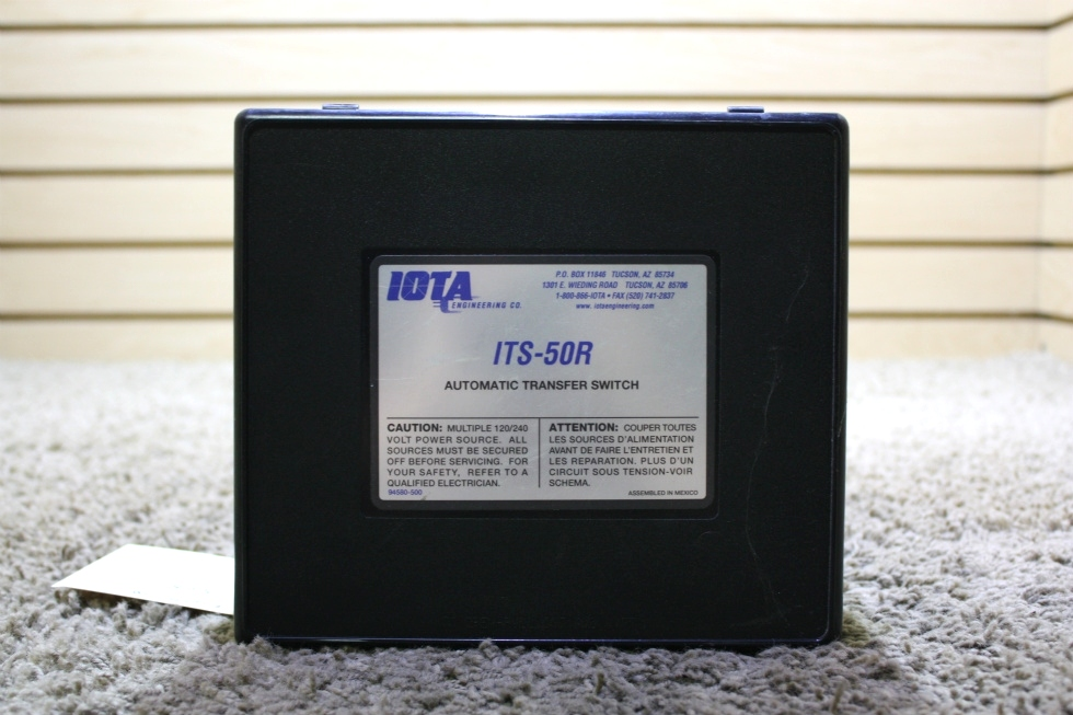 USED IOTA ENGINEERING ITS-50R RV AUTOMATIC TRANSFER SWITCH FOR SALE