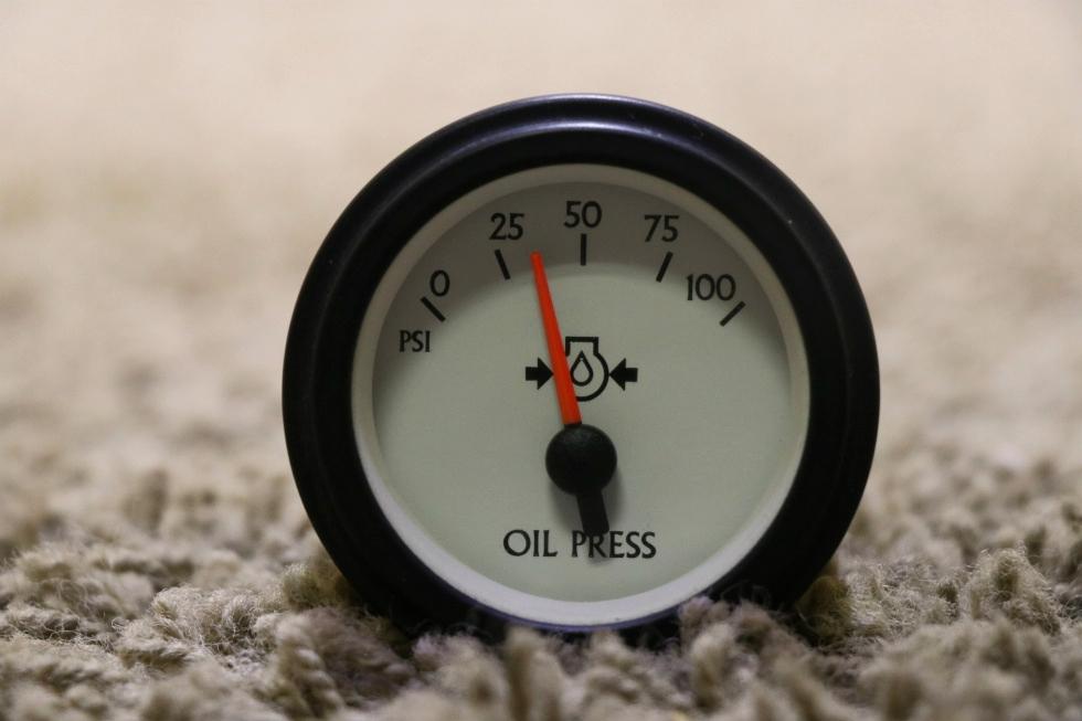 USED OIL PRESSURE 944383 MOTORHOME DASH GAUGE FOR SALE