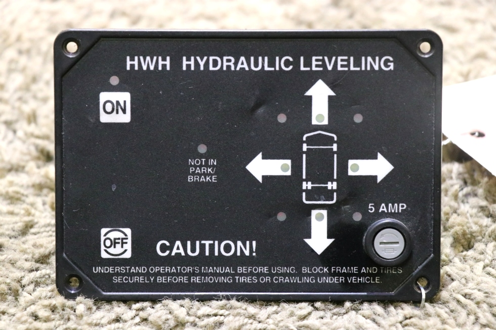 USED AP9755P HWH HYDRAULIC LEVELING TOUCH PAD RV PARTS FOR SALE