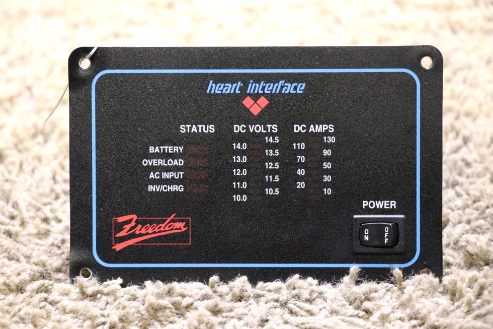 USED RV HEART INTERFACE FREEDOM INVERTER REMOTE PANEL FOR SALE