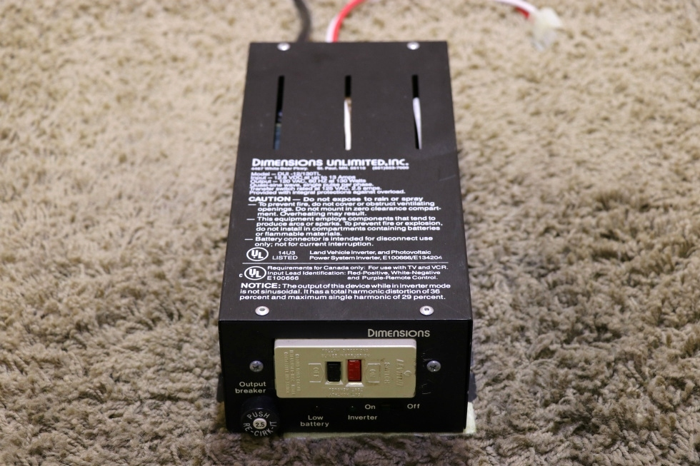 USED DUI-12/130TL DIMENSIONS UNLIMITED INC INVERTER MOTORHOME PARTS FOR SALE