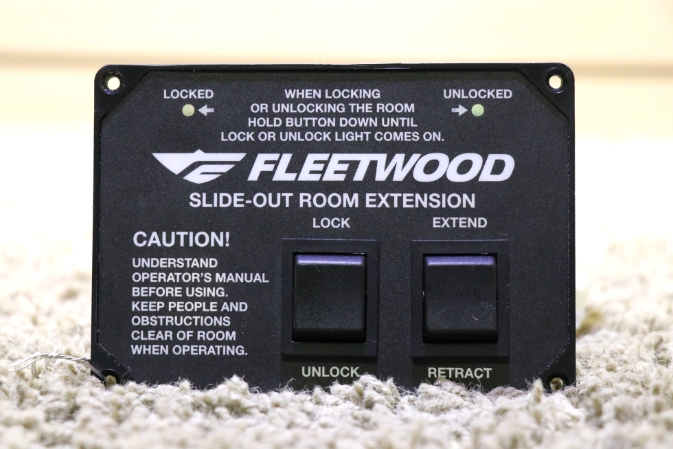 USED MOTORHOME FLEETWOOD SLIDE-OUT ROOM EXTENSION SWITCH PANEL FOR SALE