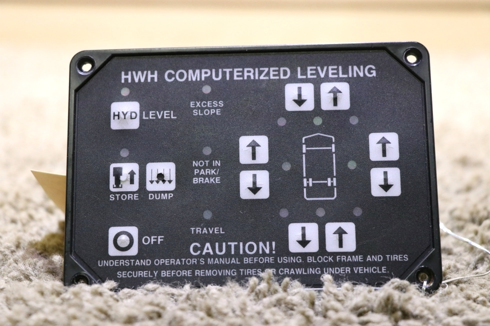 USED MOTORHOME HWH COMPUTERIZED LEVELING CONTROL TOUCH PAD FOR SALE