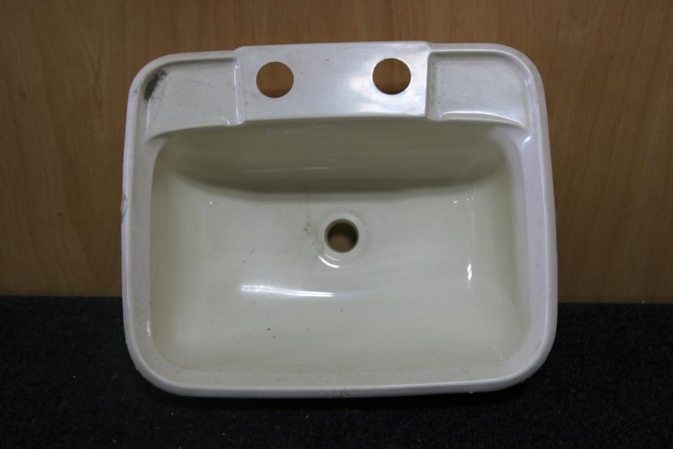 Charming SMALL RV BATHROOM WHITE PLASTIC SINK SIZE: 14.5 X 11