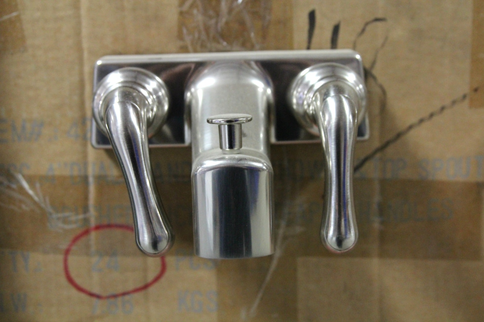 NEW RV/MOTORHOME BRUSHED NICKEL BATHROOM FAUCET SIZE: 4 INCH