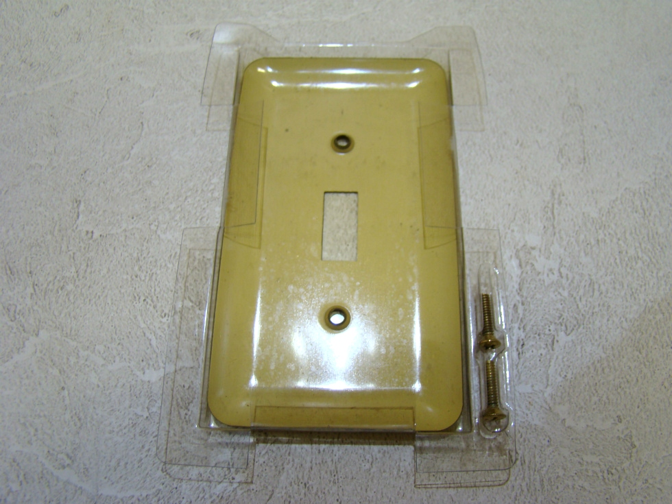 RV/MOTORHOME SINGLE UNIVERSAL GOLD SWITCH PLATE $3.99 FREE SHIPPING!