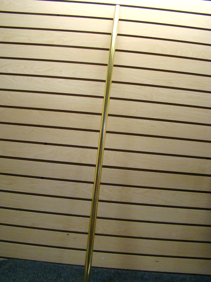 NEW OLD STOCK BRIGHT BRASS LOCK SEAM SHOWER RODS SIZE:38L