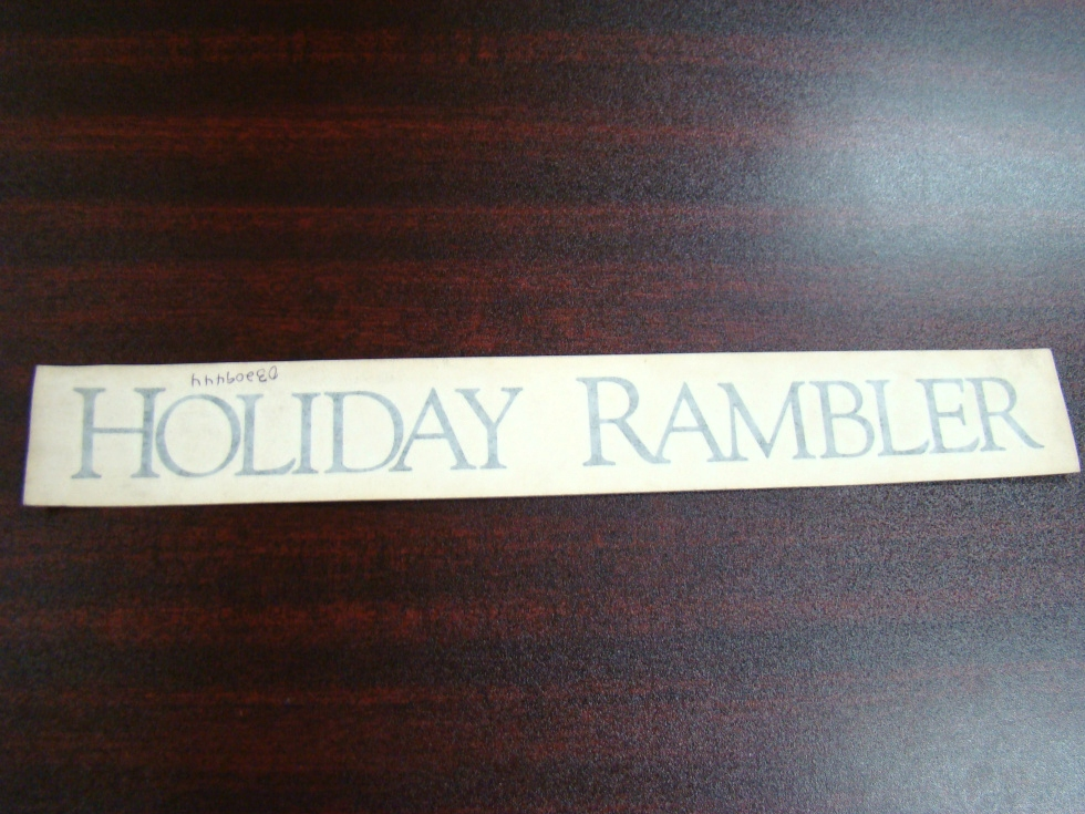 NEW RV/MOTORHOME HOLIDAY RAMBLER FLAT DECAL