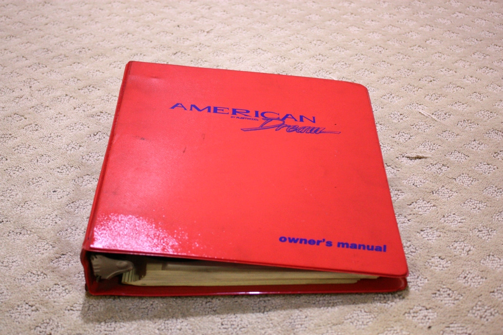 USED 1998 FLEETWOOD AMERICAN DREAM OWNERS MANUAL BINDER FOR SALE