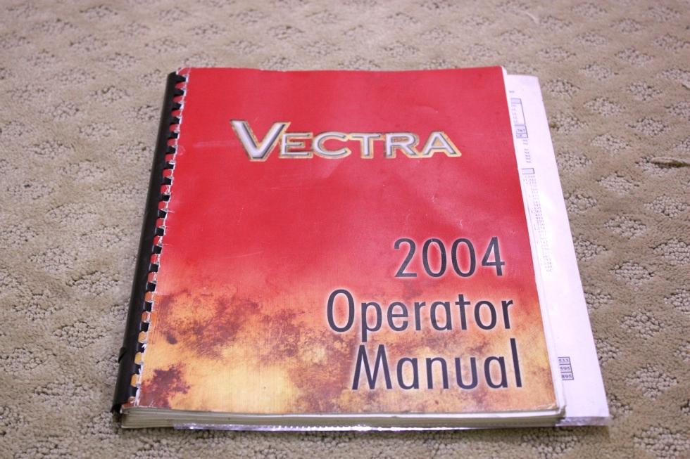 USED 2004 WINNEBAGO VECTRA OPERATORS MANUAL FOR SALE