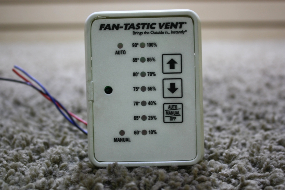 USED FAN-TASTIC VENT TOUCH PAD CONTROL PANEL RV PARTS FOR SALE