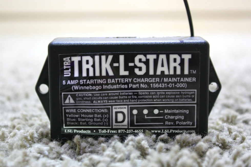 USED RV ULTRA TRIK-L-START 5AMP STARTING BATTERY CHARGER / MAINTAINER FOR SALE