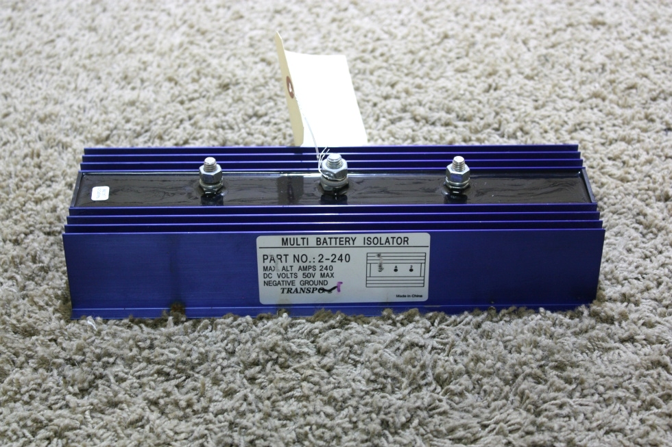 USED RV TRANSPO MULTI BATTERY ISOLATOR PART NO. 2-240 MOTORHOME PARTS FOR SALE