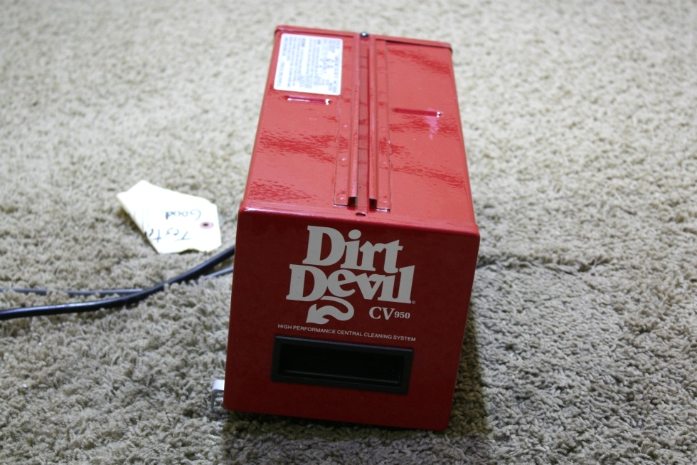 USED DIRT DEVIL CV950 HIGH PERFORMANCE CENTRAL CLEANING SYSTEM RV PARTS FOR SALE