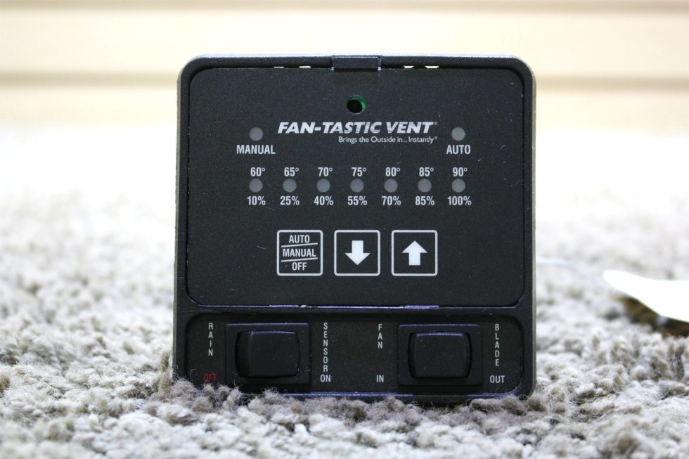 USED MOTORHOME FAN-TASTIC VENT SWITCH PANEL FOR SALE