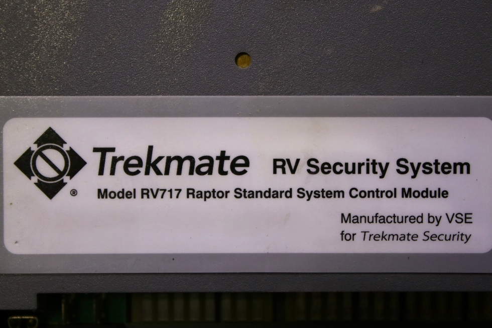 USED TREKMATE RV SECURITY SYSTEM MODEL RV717 RAPTOR CONTROL MODULE FOR SALE